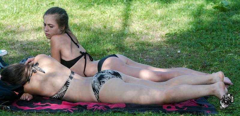 city park girls in sexy bikinis