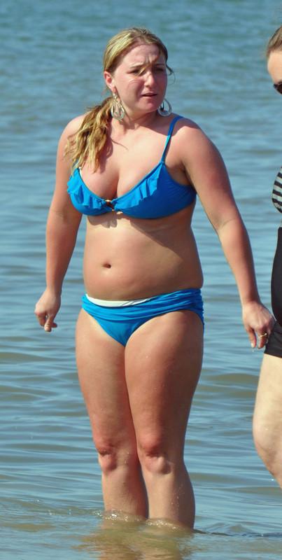 awesome milf in blue bikini