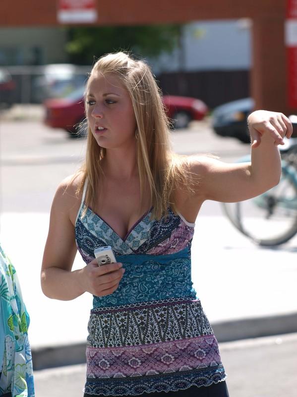 smoking hot blonde teen in leopard print bikini