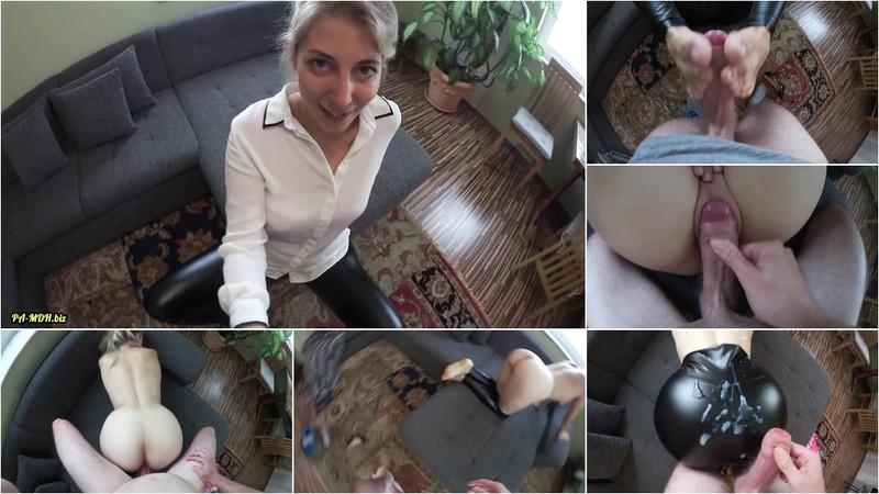 Sarah_Secret - Neuen Arbeitskollegen verführt - XXL Ladung auf Leder-Leggings-Arsch (1080P/mp4/193 MB/FullHD)
