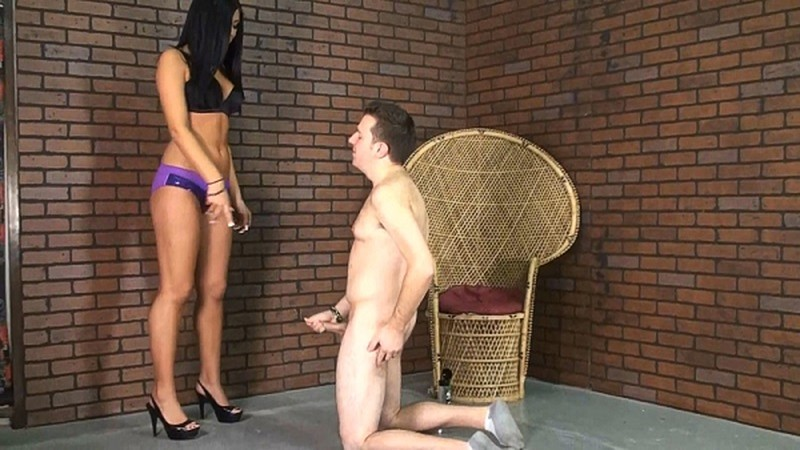 Christina - Chastity Slave Let Out To Make Worship Puddle [FullHD 1080P]