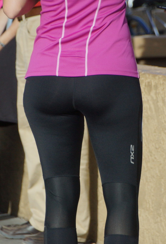 charming lady in fitness leggings