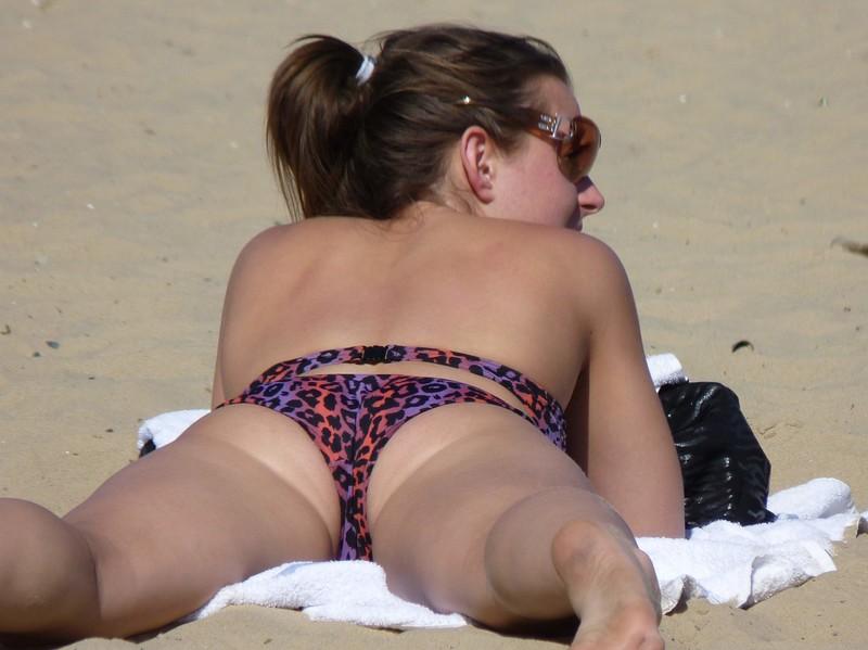bikini girl relaxing on the beach