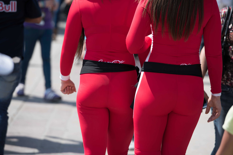 coca cola promo girls in red catsuits