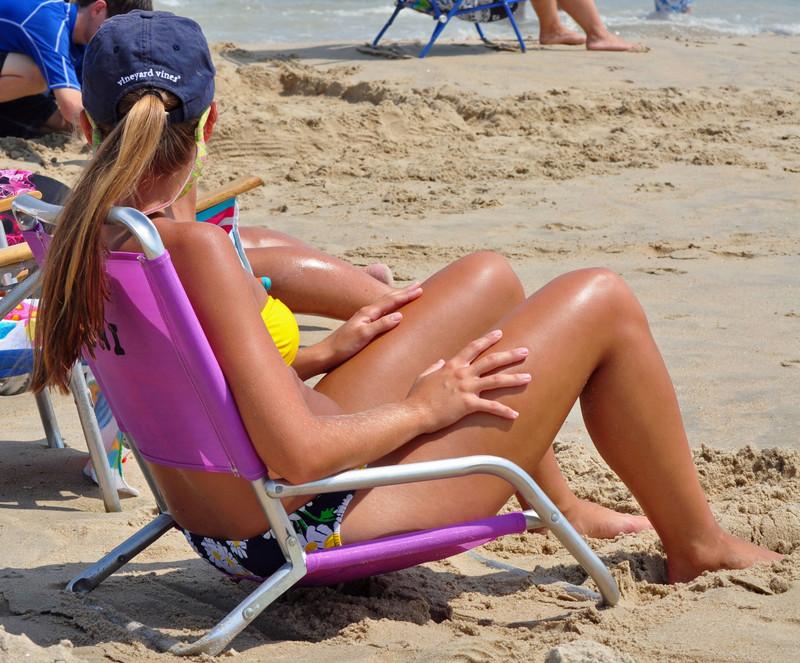 lovely beach chick in bikini
