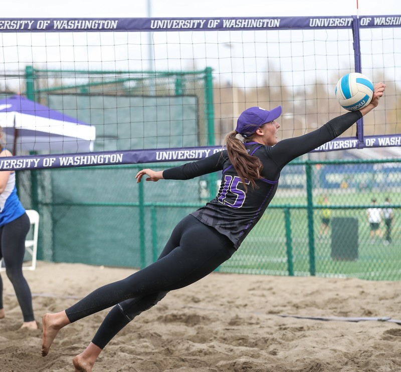 sand volleyball girls in lycra shorts & leggings