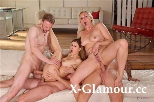 Billie Star - Busty Milfs Billie Star And Brittany Bardot Dpd In Hot Summer Poolside Orgy [HD/720p]