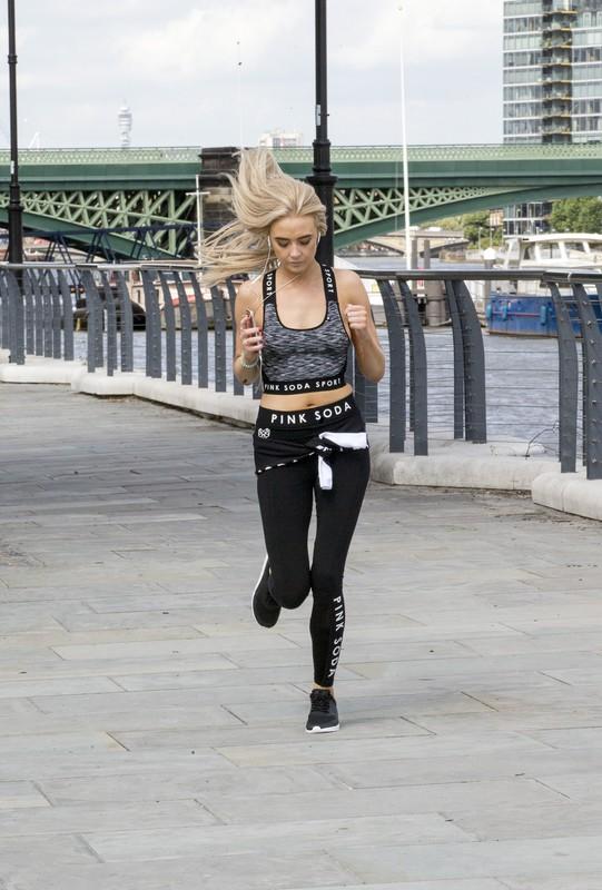 blonde hottie Nicola Hughes sexy workout photo album