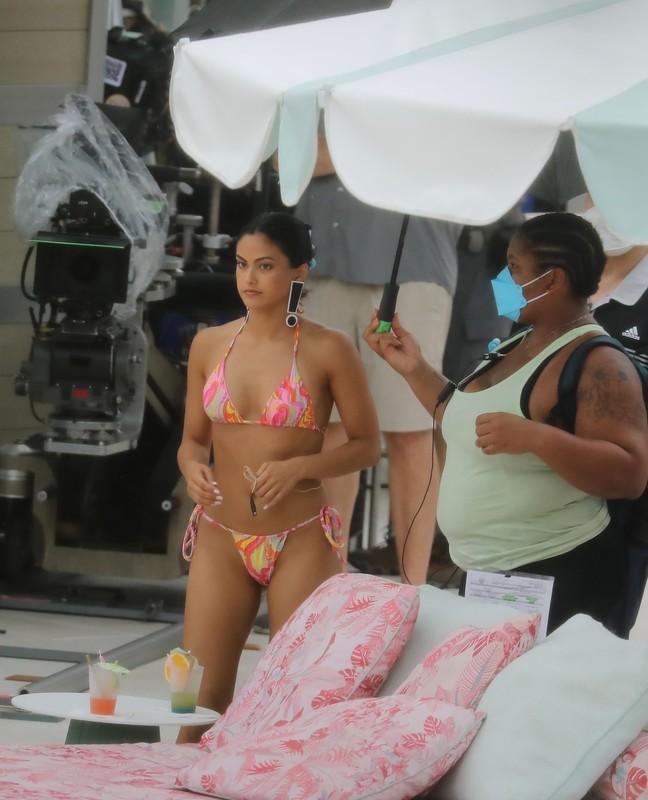 handsome babe Camila Mendes in candid bikini