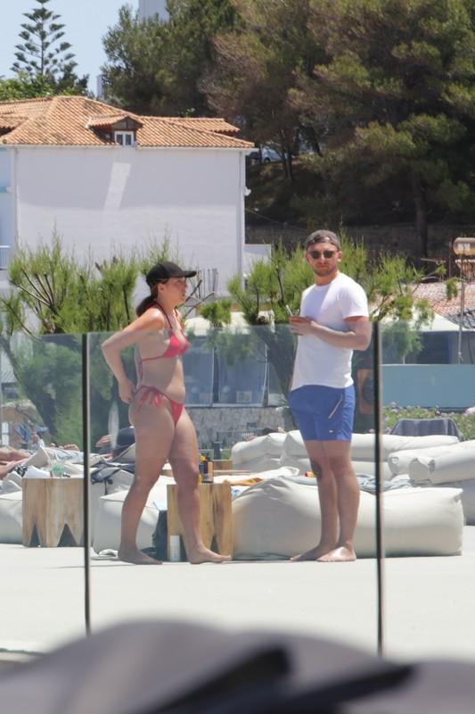 hot milf Georgia May Foote in orange bikini