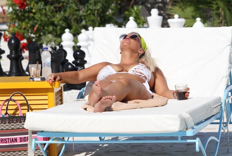 busty milf Kerry Katona in bikini