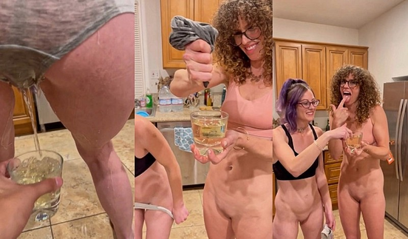 VibeWithMolly - Two girls piss their panties [UltraHD/2K 1920P]