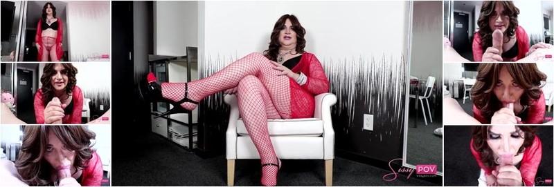 Venus Vixen - Mature Crossdresser Works Hard To Suck Cock (HD)