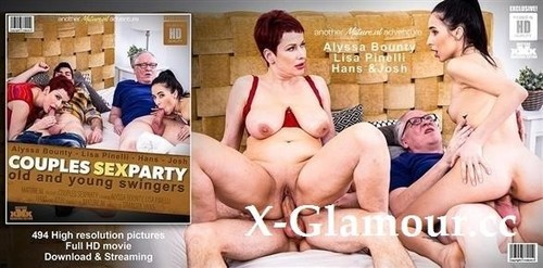 Alyssa Bounty, Lisa Pinelli - Old And Young Swingers Have A Couples Sexparty (2021/FullHD)